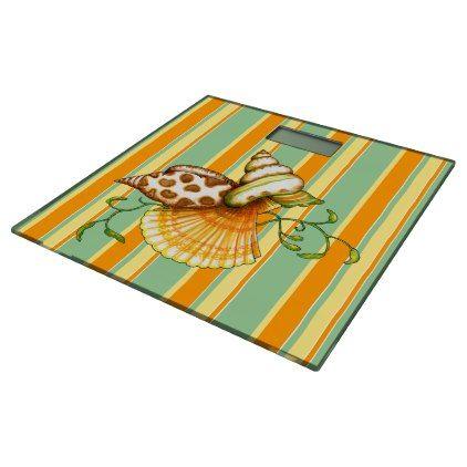 Photo Gallery In Website Cute Elegant Stylish Seashells Stripes Pattern Bathroom Scale stylish gifts unique cool diy customize