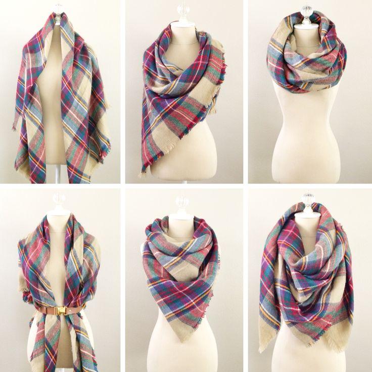 Six ways to wear a blanket scarf | StylishPetite.com
