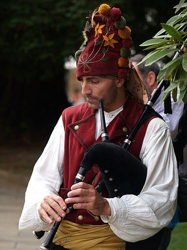 "Galicia Spain...the Celtic Roots....playing the ""Gaita"" (Bagpipe/one pipe only)"