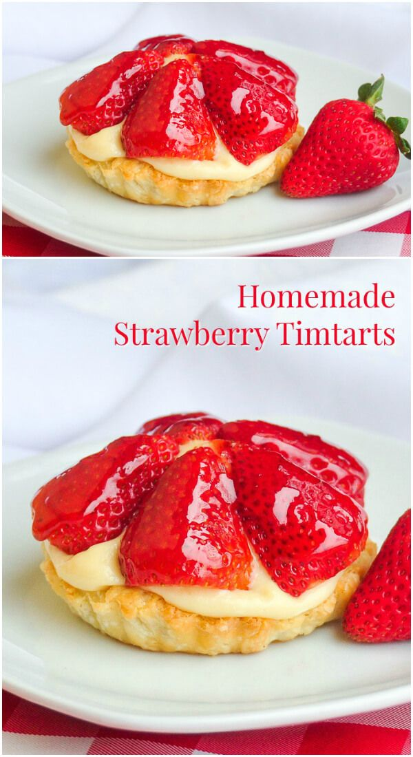 Strawberry Custard Tarts aka Tim Tarts! A nostalgic look back at a classic Canadian treat from the 80's and a recipe to make them at home. Ideal for Canada Day!