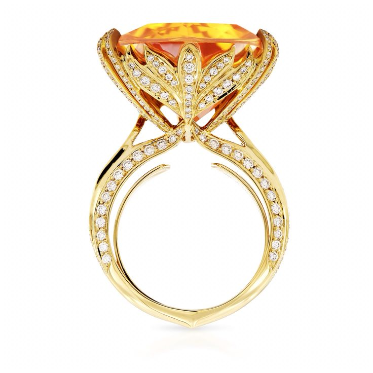KAT FLORENCE 44-carat Scheelite and diamond ring - it is the unseen details that…