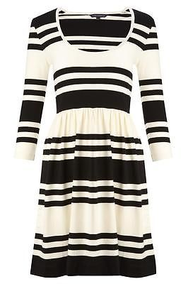 French Connection Stretchy Cotton Stripe Dress UK6/EUR34/US2