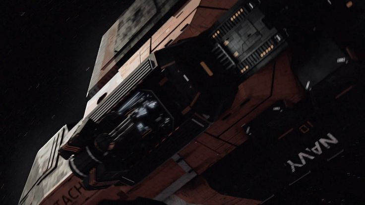 View the Rocinante / Tachi as glimpsed briefly in the January 15th, 2015 Trailer for The Expanse TV Series coming to SyFy. Check out the name visible on... - http://www.theexpansetvseries.com/news/tachi-rocinante-seen-trailer/