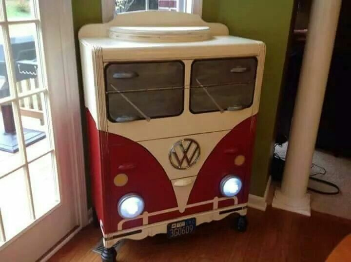 Vw Painted Dresser Creative Ideas Pinterest Trucks Dressers And Painted Dressers