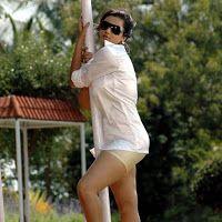 Namitha in a hot white shirt