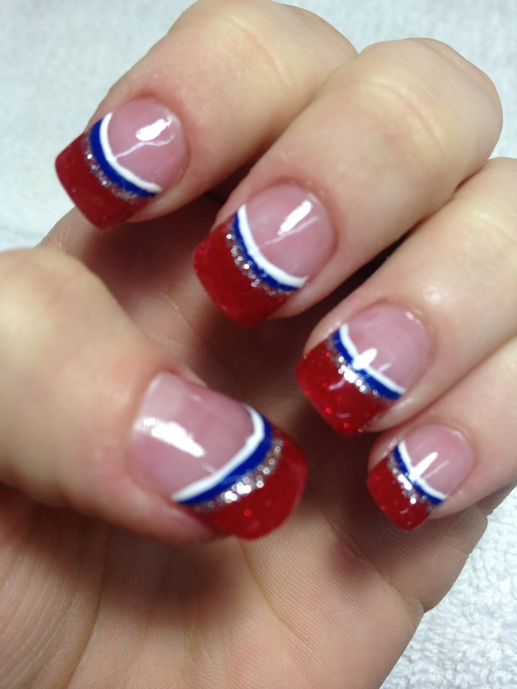 My new HOUSTON TEXANS NAILS by *Jessica Morales*