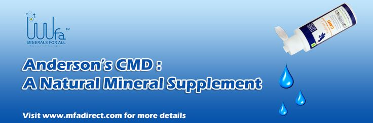 #Anderson's #CMD is an authentic, all-#natural, low-sodium, full spectrum #mineral complex. For more details visit www.mfadirect.com