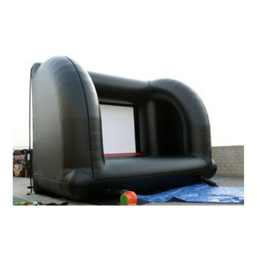 Back of--EZ Inflatables Solid Inflatable Movie Screen - Outdoor Audio and Video Equipment at Hayneedle
