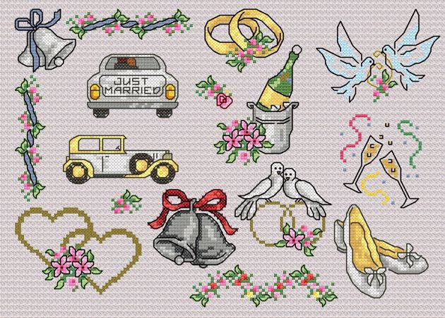 Maria Diaz Designs: Wedding III (Cross-stitch chart)