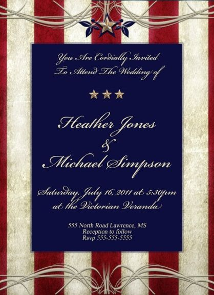 Patriotic Wedding Invitations could be nice ideas for your invitation template