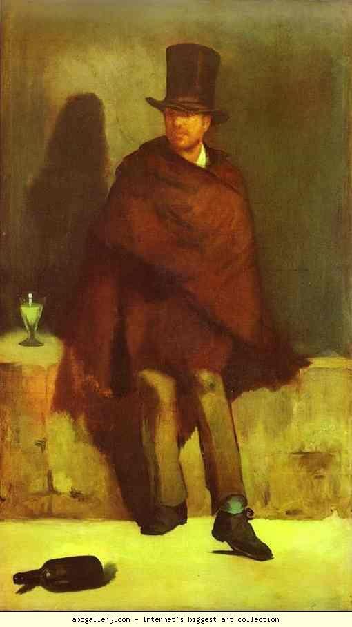 Edouard Manet. The Absinthe Drinker.