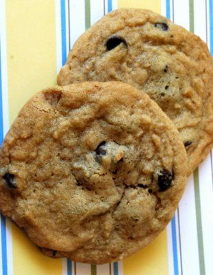 Lovin' From the Oven: Chocolate Chip Cookies - I just made these and they really are perfect! I substituted semisweet chocolate chips instead of bittersweet chocolate.