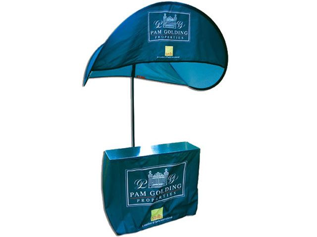 Popbrella Kiosk at Banners | Ignition Marketing Corporate Gifts