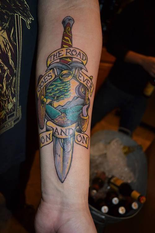 24 best images about lotr on pinterest lotr hobbit door for Best tattoos ever done