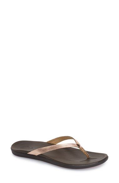 Free shipping and returns on OluKai 'Ho Opio' Leather Flip Flop (Women) at Nordstrom.com. A full-grain leather flip-flop is crafted with a slender silhouette, while the anatomical insole provides all-day comfort and support.