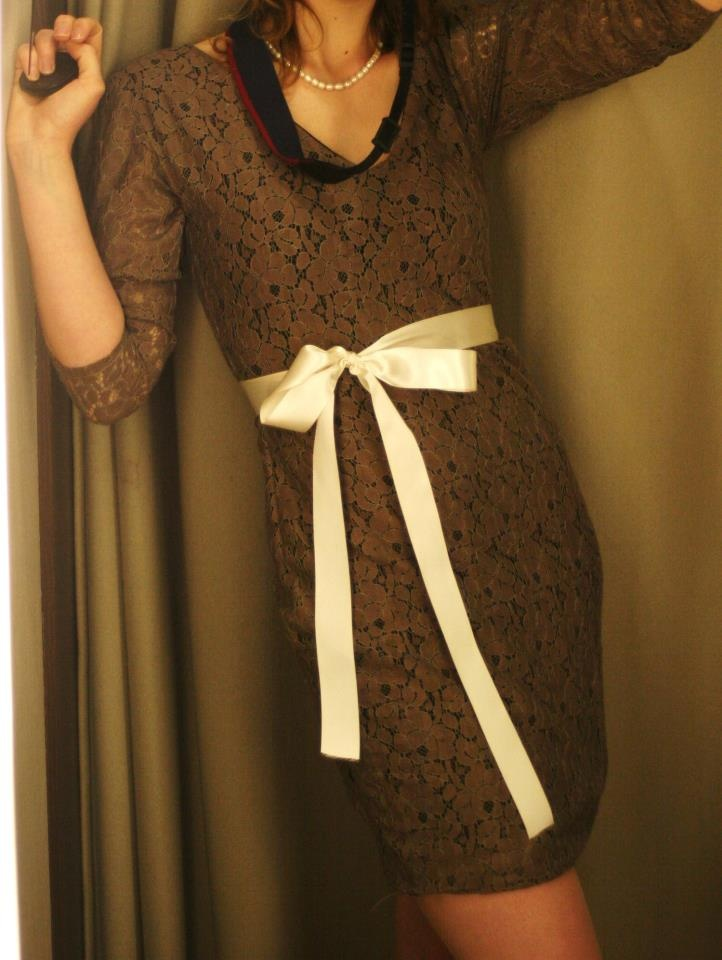 Cotton Lace Shift dress- For wedding guest