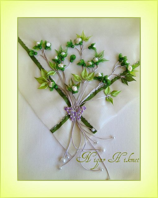 #Flower #embroidery #ribbon #embellishment