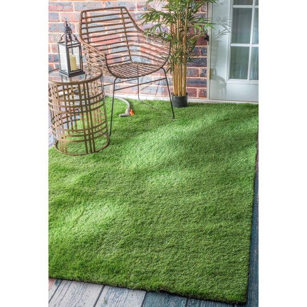 Fake Grass For Backyard Home Depot : nuLOOM Artificial Grass Outdoor Lawn Turf Green Patio Rug ($127