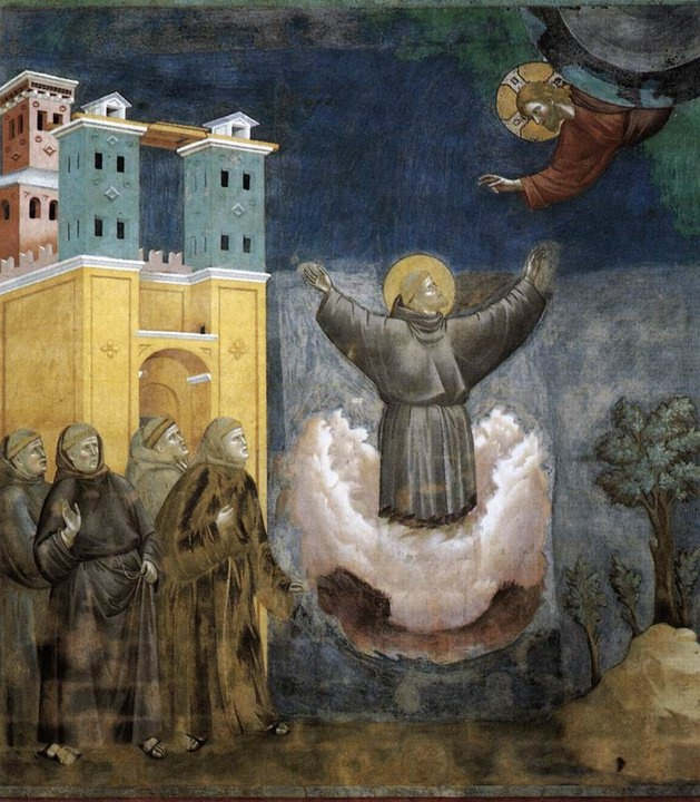 Giotto Di Bondone  Legend of St Francis- 12. Ecstasy of St Francis 1297-1300