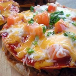 Mexican Pizza - a huge hit with my husband.