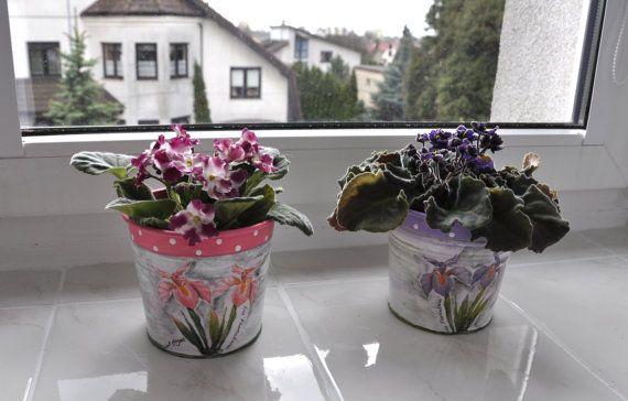 Plant pot flower pot planter flowerpot garden by AgaArtFactory