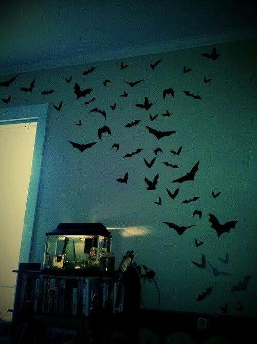Bat Wall Decals Horror Inspired Decor Pinterest Wall