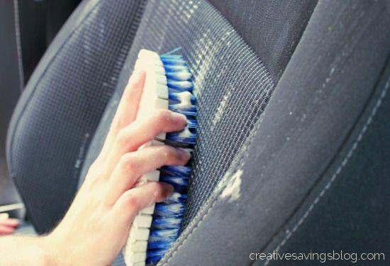 DIY Car Upholstery Cleaner - Creative Savings