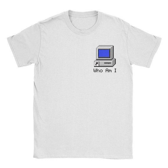 Vaporwave Who Am I Shirt