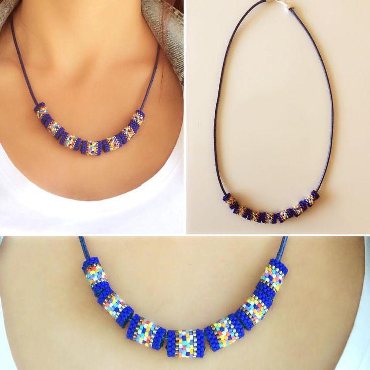Miyuki boncuklarla işlenmiş kolye bilgi ve sipariş için  5333550280 #miyuki #miyukiboutique #miyukibeads #miyukidelica #miyukiaddict #fashion #trend #blue #miyukikolye #miyukiboncuk #mavi #moda #kolye #takı #instagood #instamood #instalike