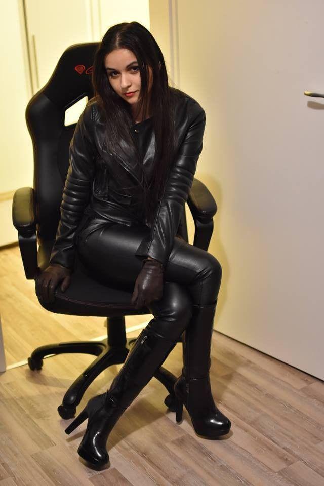 Фотки девушек казашек в одежде в кожаном — 14