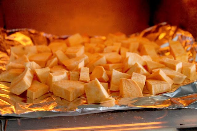 Sweet potatoes have a lot of nutritional benefits:  - Excellent source of Vitamin A - Great source of Vitamin C - Maganese - Copper  - Vitamin B6, B1, B2 - Potassium and Phosphorus.  If you want to learn how to make a delicious vegan salad! Visit our blog and click on the picture! http://www.selftimersblog.com/2016/03/green-crunchy-salad-sweetness.html