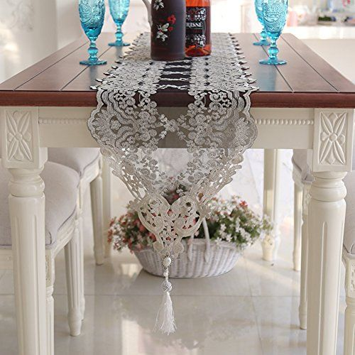 European Style Lace Table Runner Cover Towels Coffee