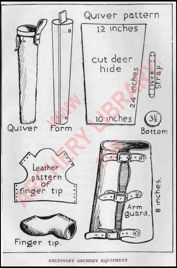 Art Young and Saxton Pope | Archery Equipment Patterns - Check out the watermarked website, as well!  It has some wonderful resources!