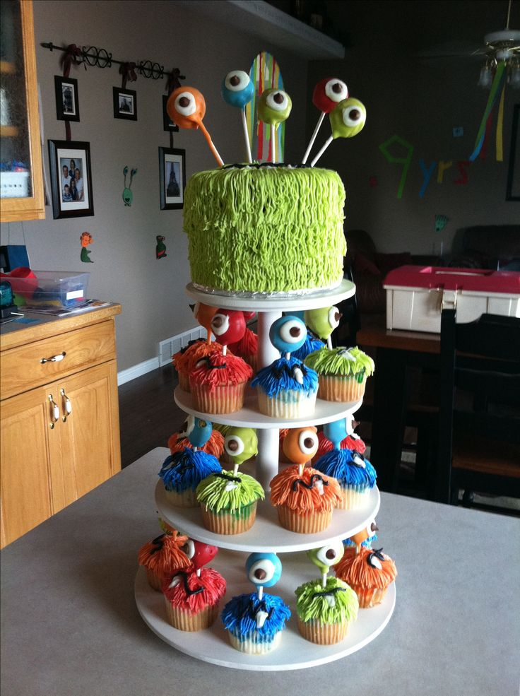 My sons monster birthday cake #Kids #Birthday #Party
