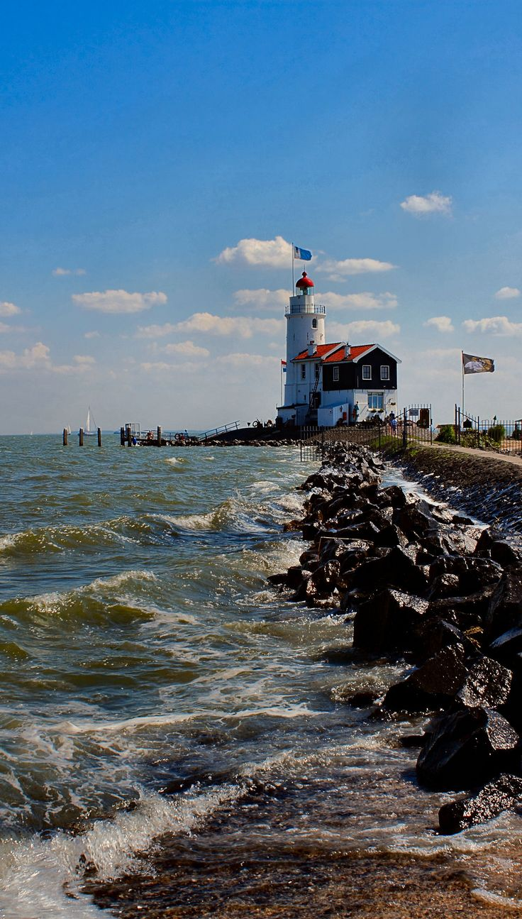 "The Paard van Marken (""Horse of Marken"") is a lighthouse on the Dutch peninsula Marken, on the IJsselmeer. (by harry eppink)"