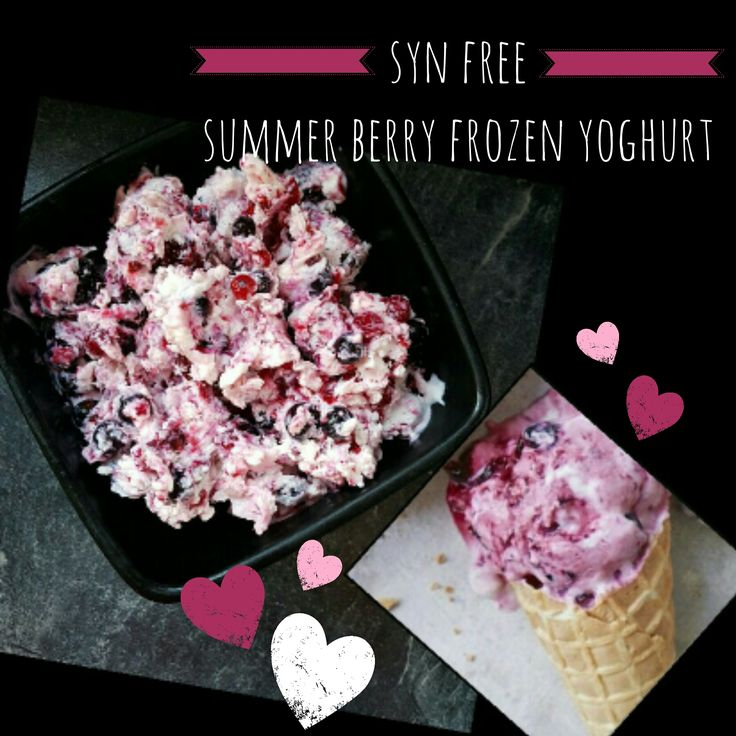Syn Free Summer Berry Frozen Yoghurt