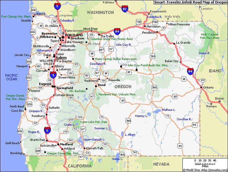 16 Best Oregon Images On Pinterest Maps 50 States And Blouses: Map Of Oregon In Usa At Usa Maps