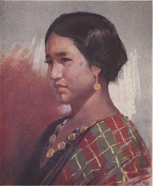 Sulu Girl, pastel, by Pablo Amorsolo.  The Sulus occupy the island of Jolo and other of the larger islands of the Sulu Archipelago, Cagayan de Sulu, and parts of southern Palawan. Outside the Philippines, the Sulus are found chiefly in northern Borneo.