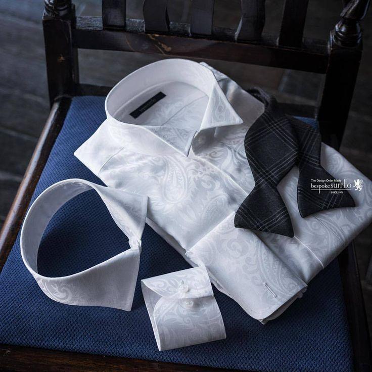 披露宴で使用したウィングカラーはノーマルカラーに戻しましょう。 これもオーダーシャツならでは😉 #ブライダル #ウィングカラーシャツ #オーダーシャツ #フォーマルシャツ #ペイズリー柄 #wedding #結婚式コーデ #ボウタイコーデ #bowtie #メンズファッション #mensfashion #bespoke #フォーマルコーデ #bridal #suit110 #bespokesuit110 #福岡県 #北九州市 #八幡西区 #小倉 #黒崎 #国内縫製...