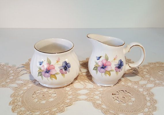 Vintage Cream and Sugar Set by Sadler Windsor Fine by RetroEnvy21