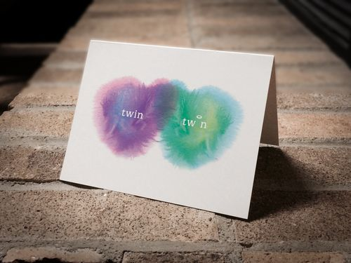Condolence card for the loss of one twin. (boy/girl twins - loss of boy)