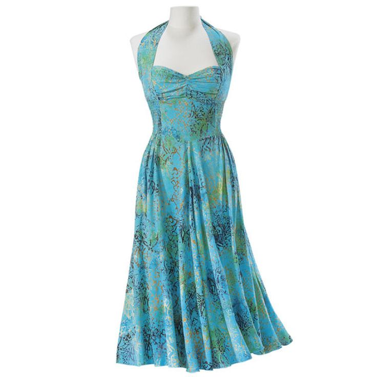 I think I'm going to get this to wear at BlogHer. Now, what shoes would go with that?: Fashion, Spiritual Gifts, Style, Halter Tops, Clothing, Halter Top Dress, New Age, Halter Dresses