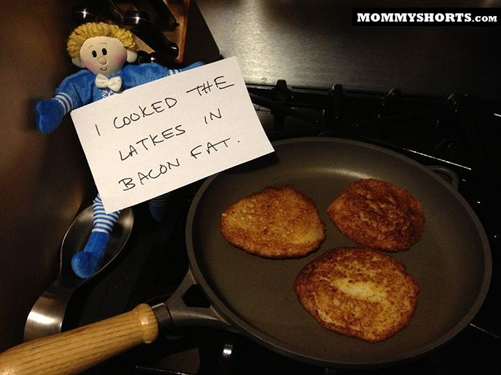 Hanukah Helper Shaming (click for 7 more ways Abraham dishonored my Hanukkah traditions)