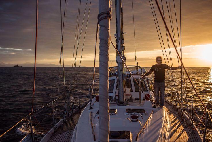 Over the Horizon host, Ellis Emmett. New Zealand episode, sailing.