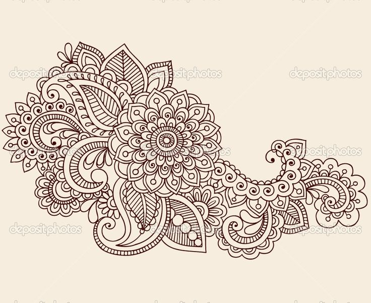 I keep coming back to this design but would like to add some detail and traditional/vintage paisley flowers