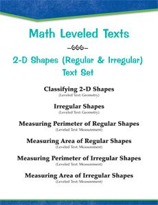 Engage and motivate students with this high-interest, #leveledtext set on regular and irregular 2-D shapes. #math Reading Levels: 1.8 - 6.8