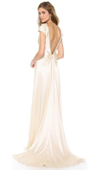 Collette Dinnigan Cap Sleeve Gown with Bow $3,900. via:shopbop.com walking on sunshine:-)
