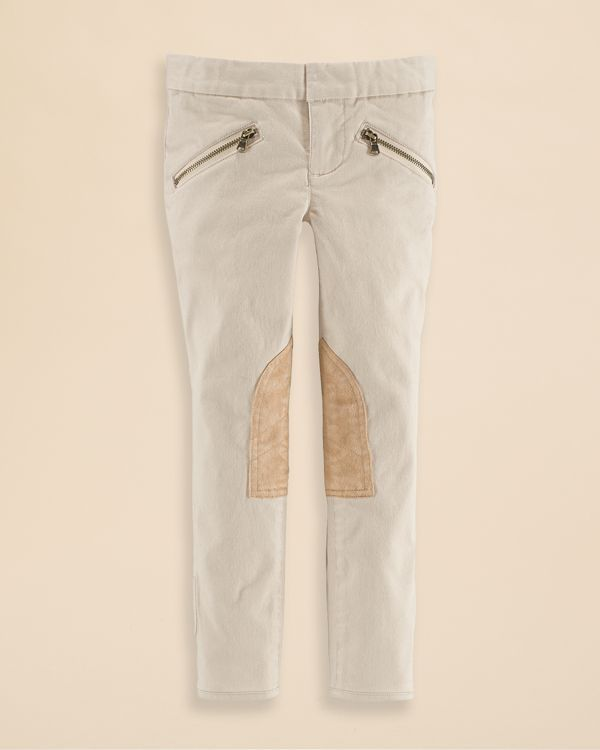 Ralph Lauren Childrenswear Girls' Jodhpur Twill Skinny Pants - Sizes 2-6X