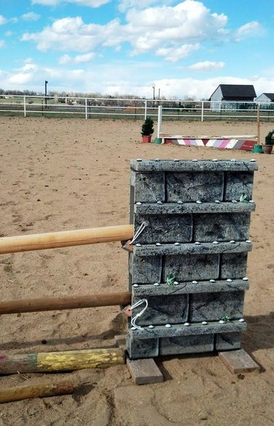 Jump Standards - Home Made Horse Jumps