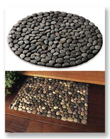 River Stone Mats  polished river stones are barefoot friendly